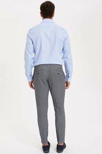 Defacto мужской костюм брюки моды Классический бизнес Длинные брюки Мужской Сплошной цвет Повседневный кулиской Pant Мужские - K2700AZ19SM