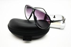 Nuevo 138 Gafas de sol piloto COCHE embalaje completo anteojos de tela 9 gafas de marca de color UV400 gafas de diseñador