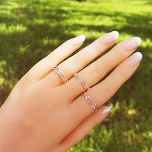 LISM 100% Real 925 Sterling Silver Line Winding Open Rings for Women Girls Fine Party Jewelry LMR003