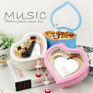 Bebek Kalp Sekiz Ton Kutuları Dans Güzellik Yüksek Dereceli Müzik Kutusu Ile Beyaz Mavi Renk Sıcak Satış 12 7yl J1