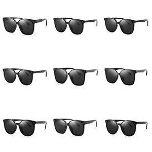 2020 nuovo disegno coreano occhiali da sole degli uomini Trendy GM ampio frame Occhiali da sole donna Vintage Gentle Sun Glasses pacchetto originale HER Y200415 # 226