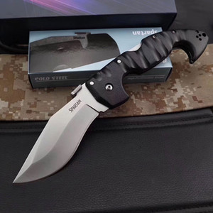 Лидирующий COLD STEEL Складной нож Spartan-Aus резкое искривление 8 Лезвие Grivory Ручка Tactical лагерь выживания Карманный нож Xmas EDC Tool
