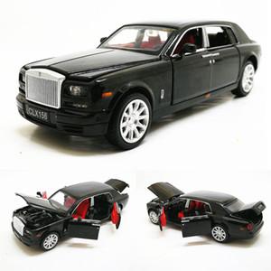 1:32 Rolls Rocke Royce Phantom Limusina extendida Aleación Diecast Toy Metal Vehicle Model Model Modelo Niños Colección de regalo gratis Y200109