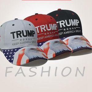 Trump Eagle-Hut Donald Trump Baseball-Mütze Halten Sie Amerika Große Einstellbare Breathaußen Hip Hop Hysteresen-Kappen LJJO7919