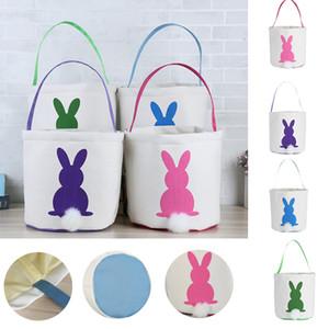 Coelho da cesta de Easter Coelhinho da Páscoa Bolsas Coelho impressos sacola da lona ovo doces cestas 4 cores