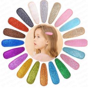 Meninas Lantejoulas Barrettes bonitos coloridos clipes snap Hairpin Rainbow Glitter Cabelo Crianças Crianças Bangs Hairclip Crianças Cabelo Acessórios DHL E4909