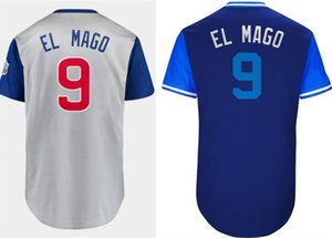 Men Women youth EL MAGO 2018 2019 Players' Weekend #9 Javier Baez Turn Back blue white grey army green Stitched retro M&N Baseball Jerseys