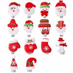 50pcs  lot , Christmas Santa Hat Glove Snowman For Girls Christmas Party DIY Hair Bow Hair Accessories Kids Headbands