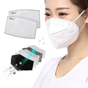 2020 DHL in Stoc2A large number of spot supply mask gasket PM2. 5 filter 5-layer protective carbon mask manufacturers