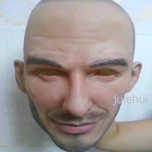 Бесплатная доставка Halloween Party Cosplay Известный Человек Дэвид Бекхэм маска Латекс партии Real Human Face Mask Прохладный реалистичный маски Y200103