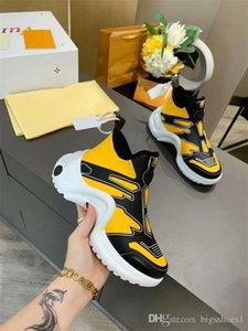 Louis Vuitton LV shoes 2020 zapatos de plataforma de la moda Trainer mujeres de los hombres ocasionales de cuero Negro Arena Sneakers35-46