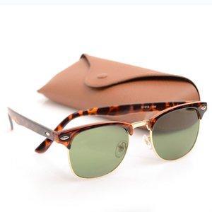 10шт Новый Классические черные женские солнцезащитные очки унисекс Club Солнцезащитные очки Мужские Солнцезащитные очки Марка Дизайнер Sun Glassess с оригинальным Brown Случаи коробками