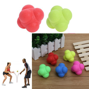 TRP Hexagonal Bouncing Ball Solid Fitness Training Agility Speed Reaction Ball Outdoor Sports Toy Ball for Adult Kids Exercise