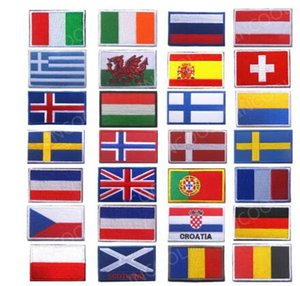 Nakış Yamalar Rozetleri Slovakya Romanya İsviçre İspanya Fransa Belçika Yunanistan Hollanda Polonya Vatikan Macaristan Bayrağı Yama