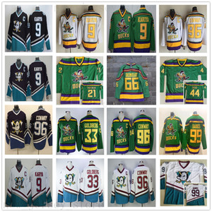 Mighty Ducks Movie 96 Charlie Conway Jersey Vintage Hockey 9 Paul Kariya 99 Adam Banks 33 Greg Goldberg Dean Portman Fulton Reed Jerseys