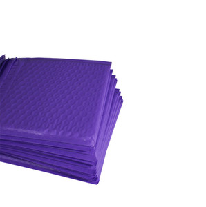 "20pcs Purple 6.5""X9"" Poly bubble Mailer envelopes padded Mailing Bag Self Sealing"