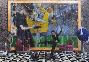 Angelo Accardi Obras CHARLIE PATINS Home Decor pintado à mão HD Pinturas Imprimir óleo sobre tela Wall Art Pictures 200515