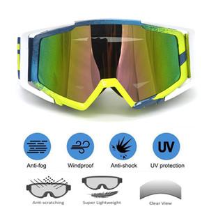 rotective Gears Gözlük Motokros Güneş gözlüğü Motorlu Gözlükler Bisiklet Çapraz Esnek Gözlükler Renkli UV Gözlüğü Motosiklet Kayak Cam Vintage R ...