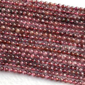 "Desconto de atacado Genuine Roxo Natural Red Auralite 23 Super 23 de cristal redonda pequena solta pérolas 4 milímetros 5 milímetro 6 milímetros 15,5"" 06049"