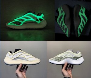Scarpe da corsa 2020 Appena uscita Kanye West 700 V3 azael bagliore nel buio bianco Wens Womens scarpa da tennis Designer Shoes
