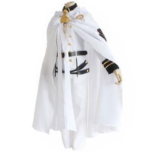 End Owari hiçbir Serafu Mikaela Hyakuya Vampir Askeri Üniforma Cloak Cosplay Kostüm Cadılar Bayramı Giyim Seti Seraph