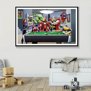 SUPERHEROS-4 الأعجوبة دي سي كوميكس النفط الفيلم الساخن على قماش اللوحة الحديثة الفن ديكور المنزل قماش اللوحة جدار صور لغرفة الجلوس 191002