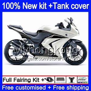 + Serbatoio per Kawasaki ZX250R EX250 08 09 2010 2011 2012 201MY.125 Pearl White EX 250 ZX 250R EX250 ZX250R EX250R 2008 2009 10 11 12 carenatura