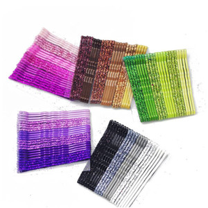 Clips 24pcs 5 cm Color de pelo horquillas para Mujeres Niñas decorativo labrar del pelo ondulado de accesorios de moda de las horquillas de metal Barrettes