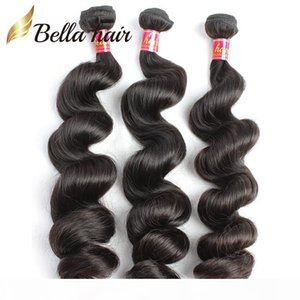 Brazilian Hair Virgin Remy Human Hair Extensions Wefts 3pcs lot Natural Color Loose Wave Whole In Bulk Drop Shipping Natural Color