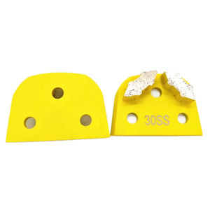 Top Quality Lavina Diamond Grinding Pads Hard Bond Floor Grinding Block Two Sharp Bullet Segments for Hard Rough Concrete Renovation 12PCS