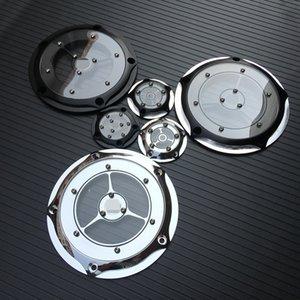 Moto Derby Cover Couvre minuterie Timing CNC en aluminium 5 Trou pour Road King Softail Dyna FLHRS FLTFB Chrome Noir