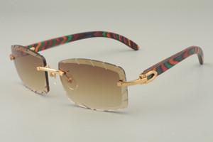 2019 لون جديد النظارات الشمسية معبد خشبي، 8100915 النظارات الشمسية شخصية، محفورة العدسات عدسة اللون والحجم: 56-18-135mm النظارات الشمسية،