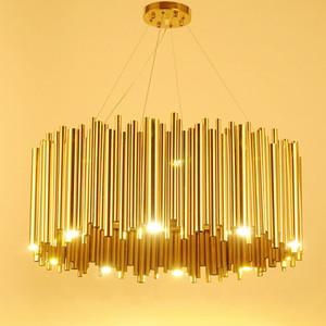 Itália Design O ouro Delightfull Brubeck Chandelier liga de alumínio Tubo de suspensão Luminaire Moda lâmpada Projeto