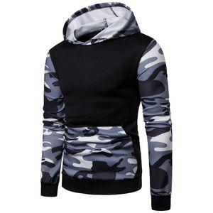Fashion-Stranger Things Streetwear Sweats à capuche Sweat Hommes imprimé camouflage Pull à manches longues Sweatshirts Tops Chemisier