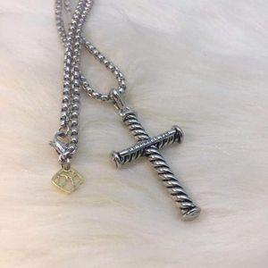 Far passare collana gioielli ciondolo semplice europei e americani collana uomini e donne popolari croce