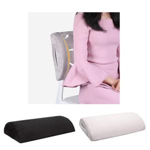 2pcs Memory Foam Foot Rest Under Desk Non-Slip Ergonomic Footrest Foam Cushion Leg Clearance Black White
