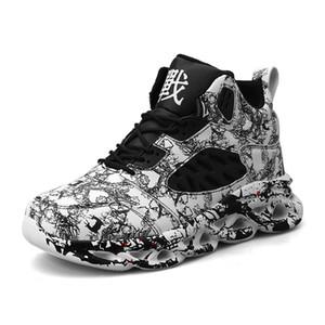Мода для мужчин Hip Hop Street Dance Shoes Граффити High Top Коренастый кроссовки осень лето Повседневная обувь Mesh мальчиков Zapatos HOMBRE