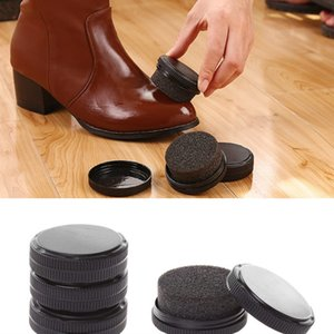 1 pz KLV rapida lustro Scarpe spugna di spazzola del polacco Wax Cleaner Dust pulizia incolore Shoe Care Kit