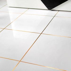 Auto adhesivo impermeable Anti-humedad baño mosaico PVC pared pegatina cocina cerámica pegatinas hogar Decortaion cinta de oro