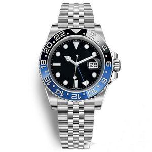 9 Arten 3866 automatische mechanische Bewegung 116710 GMT Black Ceramic Sapphire Dial Master 2 Jubilee-Armband-Uhr Herren-Uhren Reloj