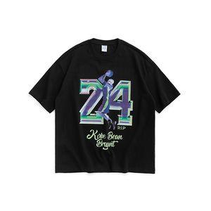 Männer-T-Shirt mit Basketball Star Printing Regular Fit Männer T-Shirt Loose Fit 100% Baumwolle Hip Hop-Mann-T-Shirt
