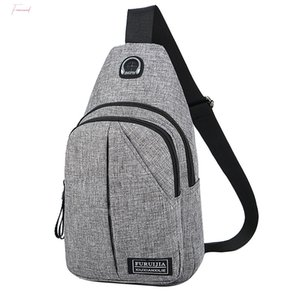 Chest Bag For Men Usb Charging Oxford Cloth Crossbody Bags For Men Wild Small Bag Fashion Pockets 2020