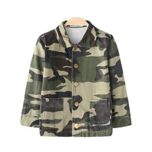 Bebés de los muchachos de la chaqueta de moda otoño del resorte de camuflaje Coats niños de prendas de vestir exteriores del Ejército rompevientos