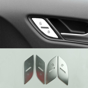 Car Styling Porte Unlock commutateur Boutons Paillettes A3 2017-2020 Bouton de verrouillage Décoration Garniture couverture