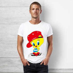 Looney tunes Tweety T-shirt de haute qualité t-shirt hommes et femmes été blanc à manches courtes hip hop tops tee mignon de bande dessinée drôle tshir