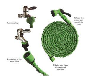 2019 vendita calda irrigazione giardino tubo autolavaggio allungato magico ampliabile forniture da giardino tubi dell'acqua tubi strumenti di pulizia auto 15 m