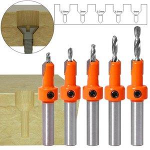 1pc 8MM mango HSS Taladro avellanado de la madera cabeza de perforación para la perforación de madera extractor de tornillos cortador Contrataladro DrillTool