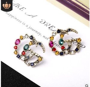 2019 Numero di perle ciondola la catena famosa marca designer gioielli di lusso gioielli Brincos orecchini orecchini per Wom 5