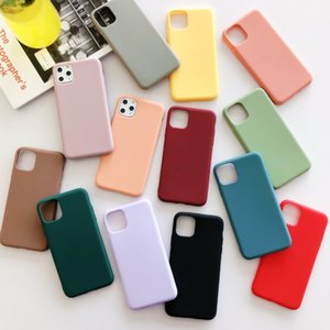 Fashion Solid Color Soft TPU Phone Cases For 11 Pro Max XS MAX XR X 8 7 6 6S Plus SE2 Cute Candy Color Silicone Cover