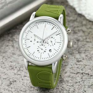 Homens de relógio de quartzo New Arrival Todos Subdials Trabalho AR Rubber Strap Sports Relógios de luxo de moda Casual Wear montres relógio masculino pour hommes